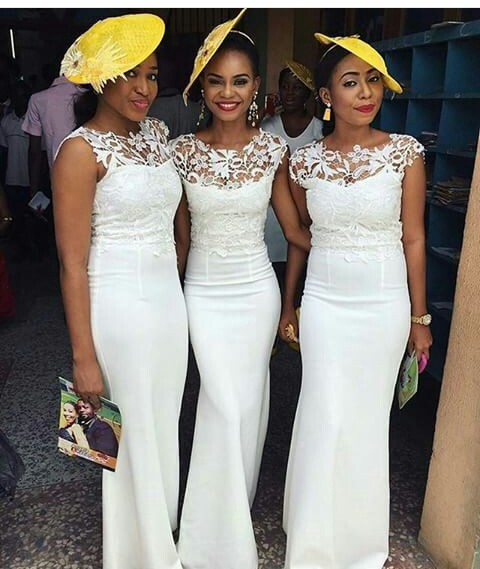Delectable Bride And Bridesmaid Outfit 2016 amillionstyles @ruvero_designs