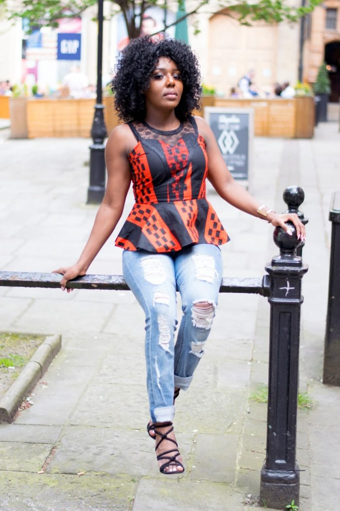 beautiful Ankara peplum Top styles for the fun weekend