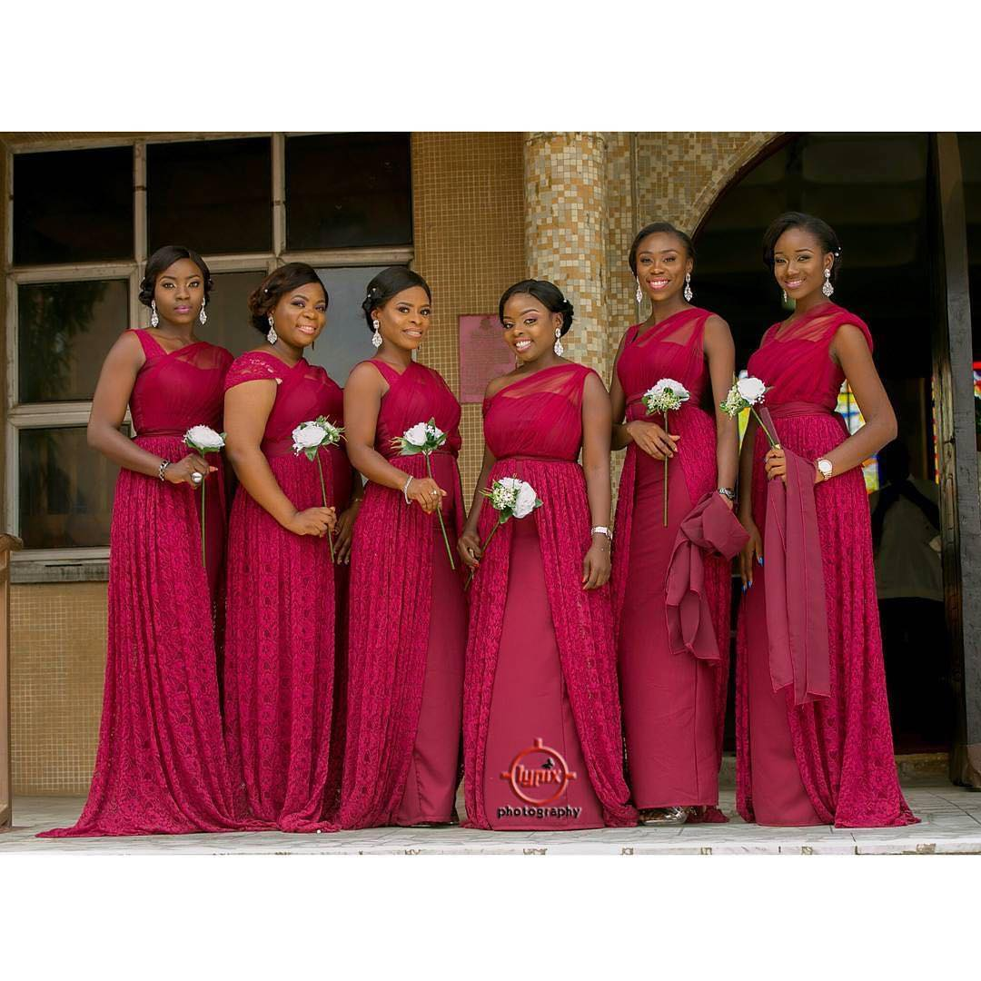 Bridesmaids: The Girls Watching The Bride's Behind