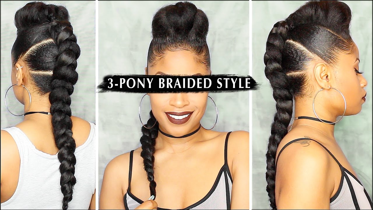 Video Tutorial: 3-Pony Braided Style