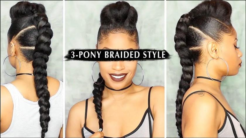 Video Tutorial: 3-Pony Braided Style