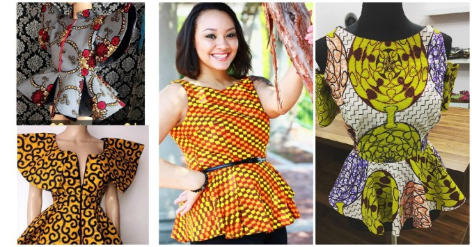 Beautiful Ankara Peplum Tops For a Beautiful Weekend
