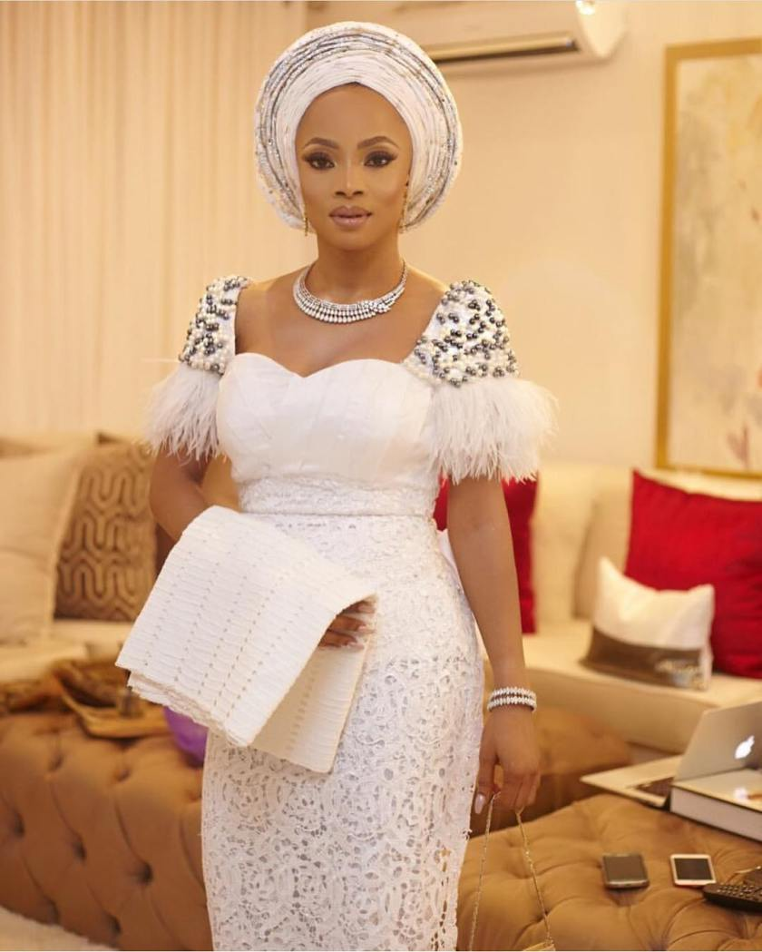 Glitz And Glamoros Aso Ebi Styles Slayed At Toke Makinwa's Sisters Wedding #stabieverafter