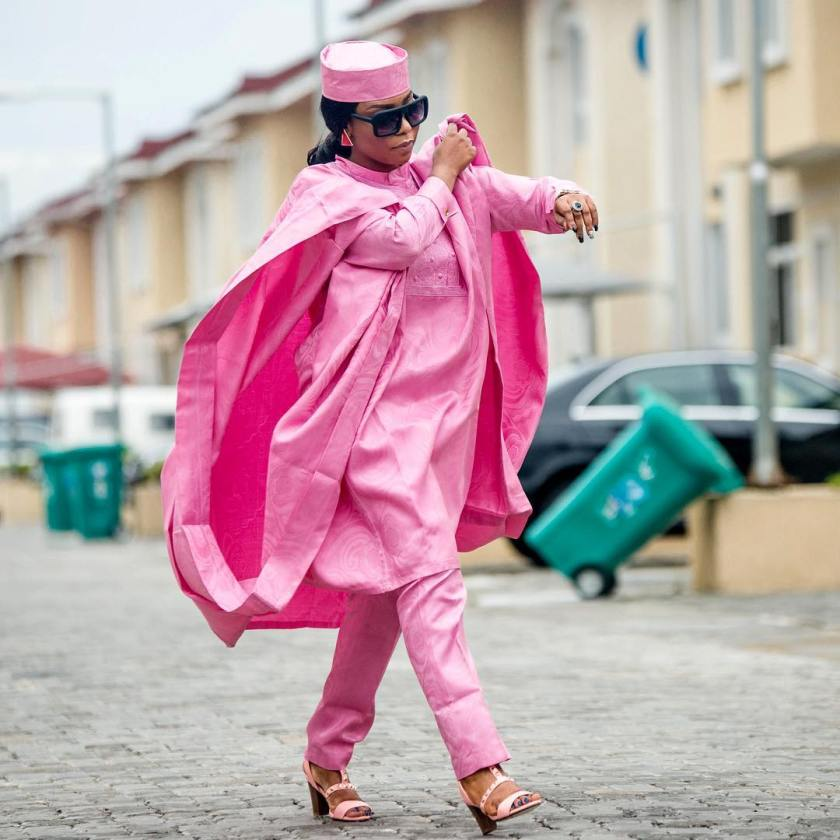 Believe us when we say, As A Fashionsta You Need To Join In On The Women Agbada Gang Style.
