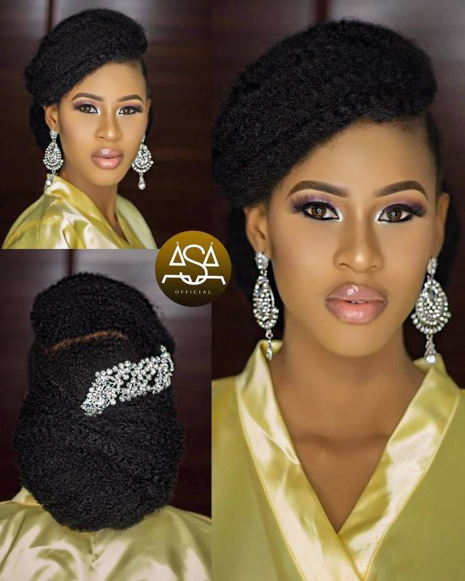 Elegant Hairstyles For Nigerian Brides