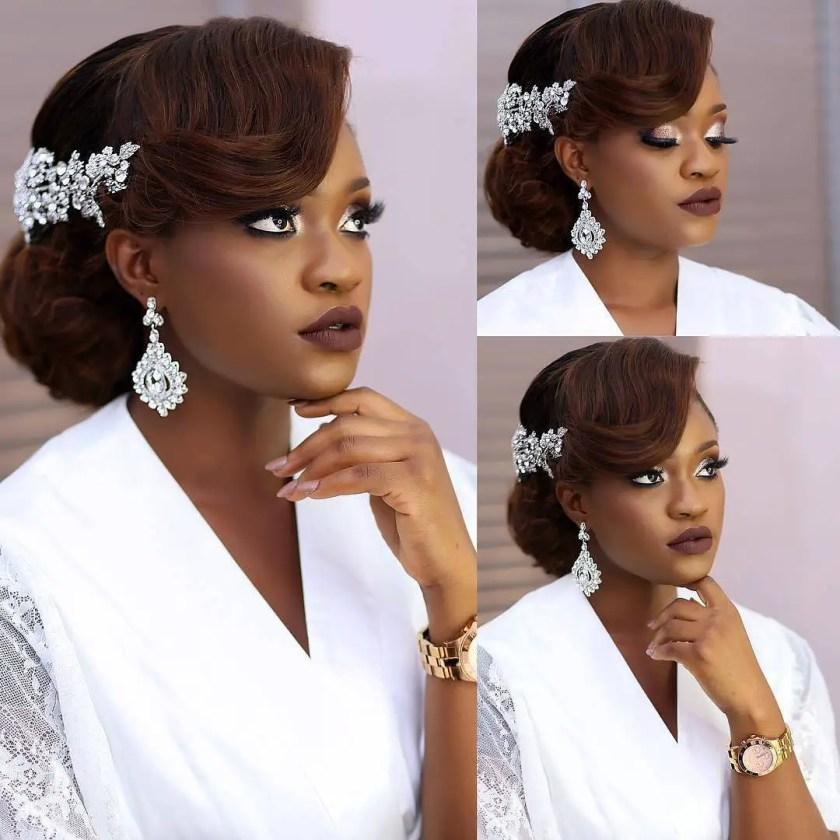 Elegant Hairstyles For Nigerian Brides
