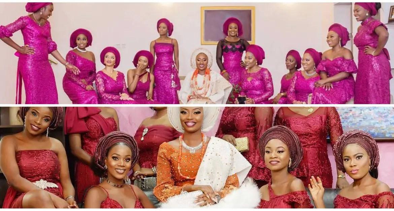 brides asoebi friends-amillionstyles