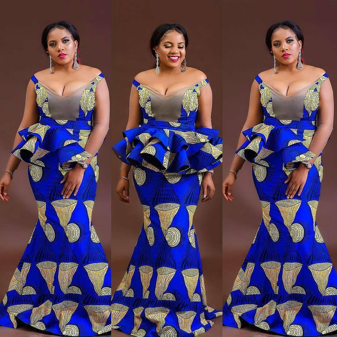 Latest ankara styles for the raining season a million Latest fashion gown style