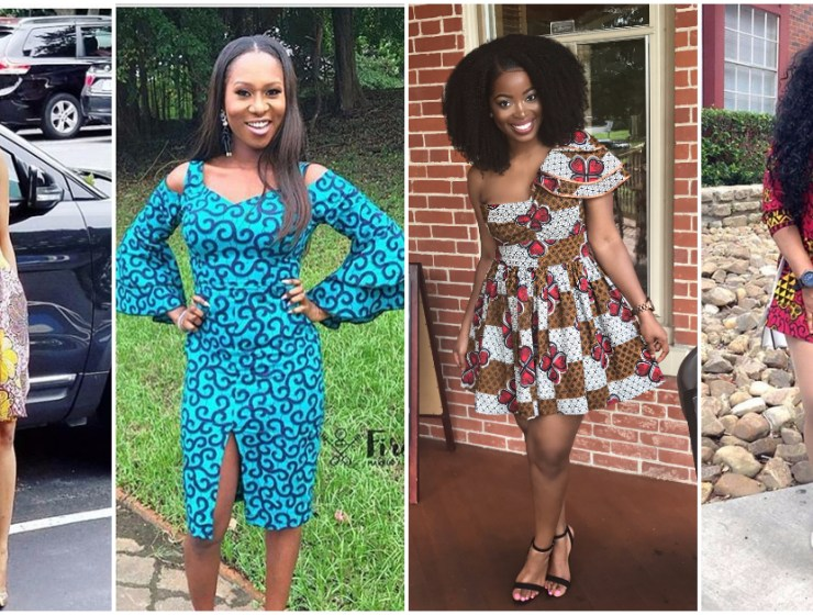 Keep Your Weekend Outfit Simple In Short Ankara Dresses.