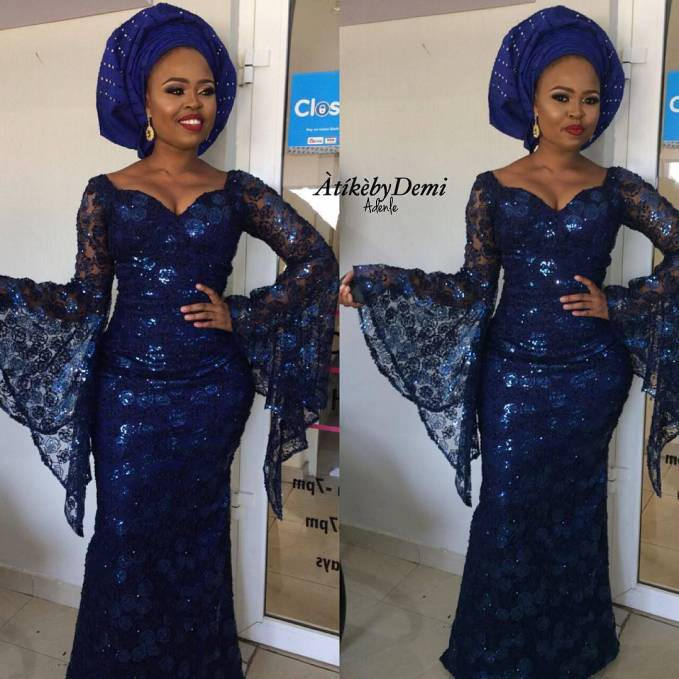 Great Blue Lace Asoebi Styles To Start Off The Week