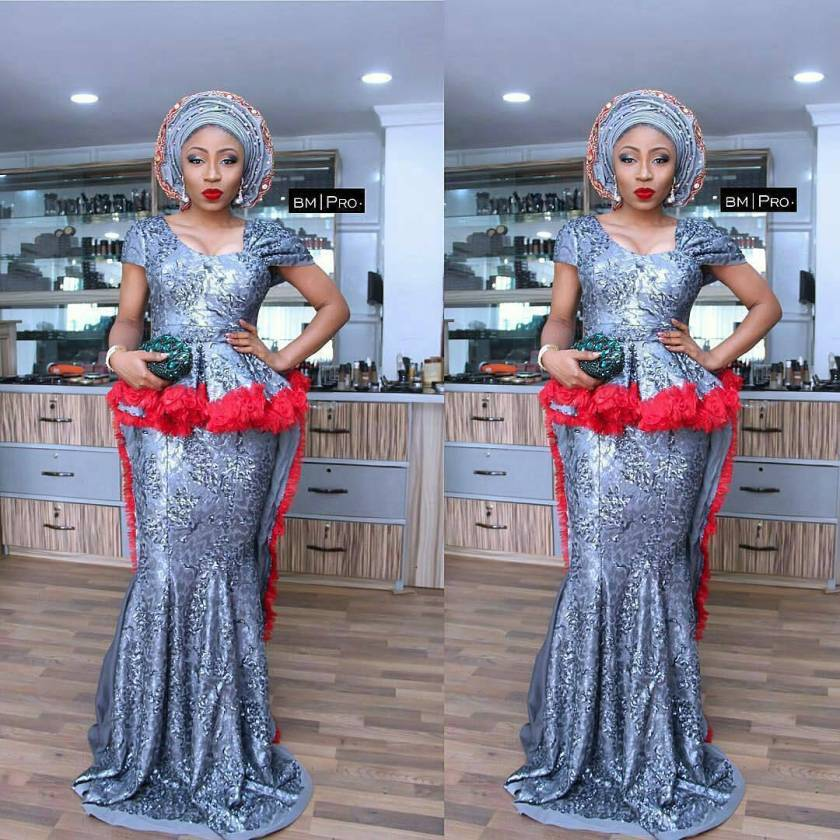 We Saw These Beautiful Latest Lace Asoebi Styles Over The Weekend