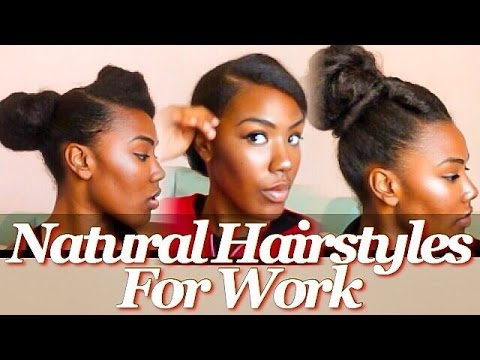 Here Are Some Simple Natural Hairstyles For Work