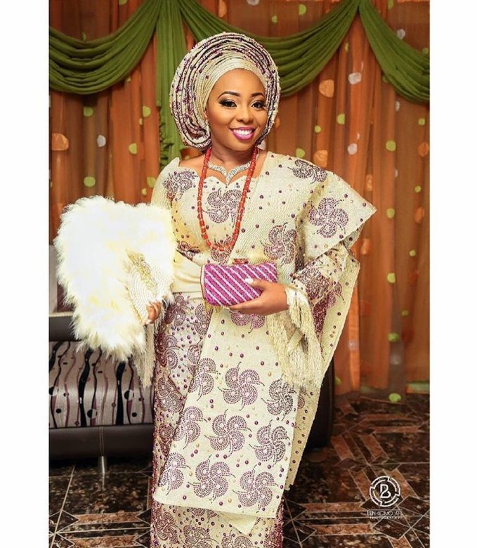 Stunning Beaded Bridal Aso-Oke Outfits