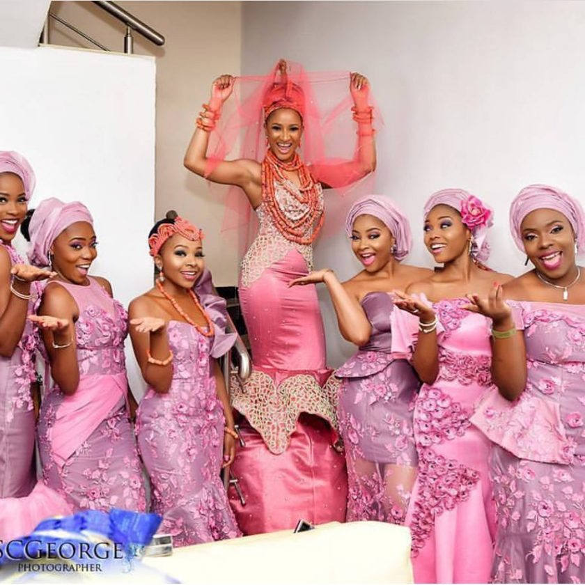 The Four Beautiful Attires Adesuwa Etomi Wore For Her Wedding #BAAD2017