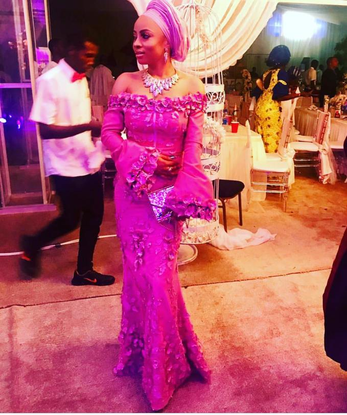 Bombarding Your Timeline With Beautiful Asoebi Styles At Banky And Adesua's Traditional Wedding!!