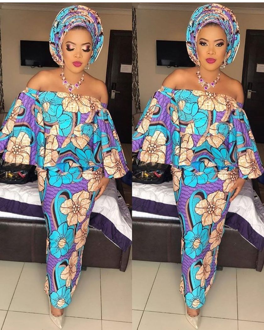 See These Long Body Hugging Ankara Styles
