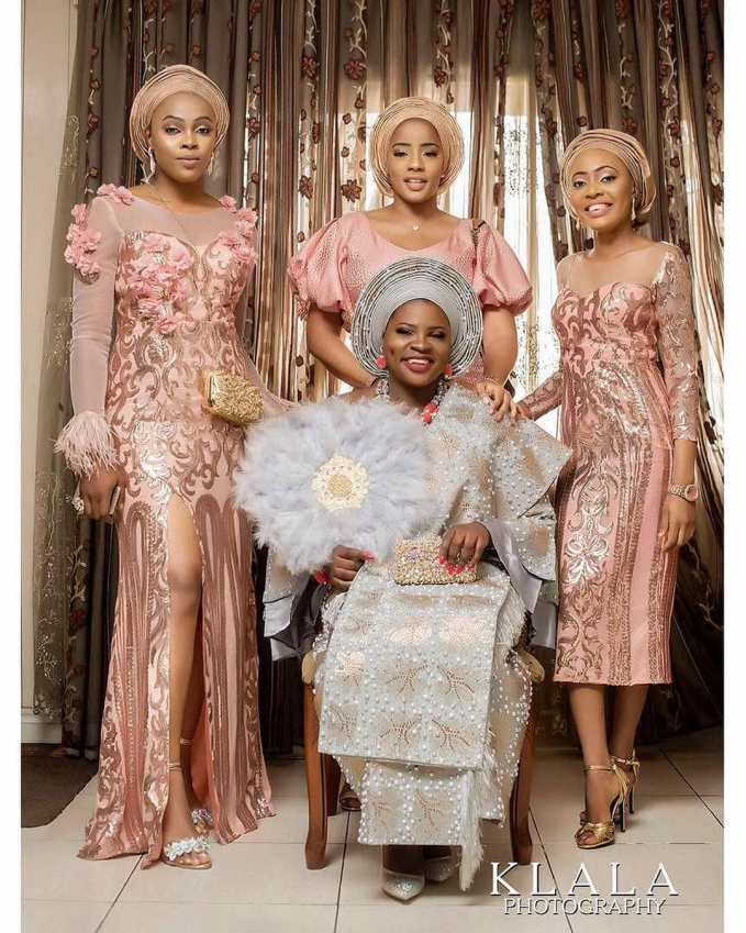 Wedding Guests Slaying Lace Asoebi Outfits