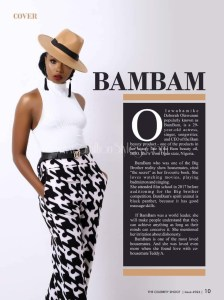 Bambam And Teddy A Of Big Brother Cover Celebrity Shoot Magazine