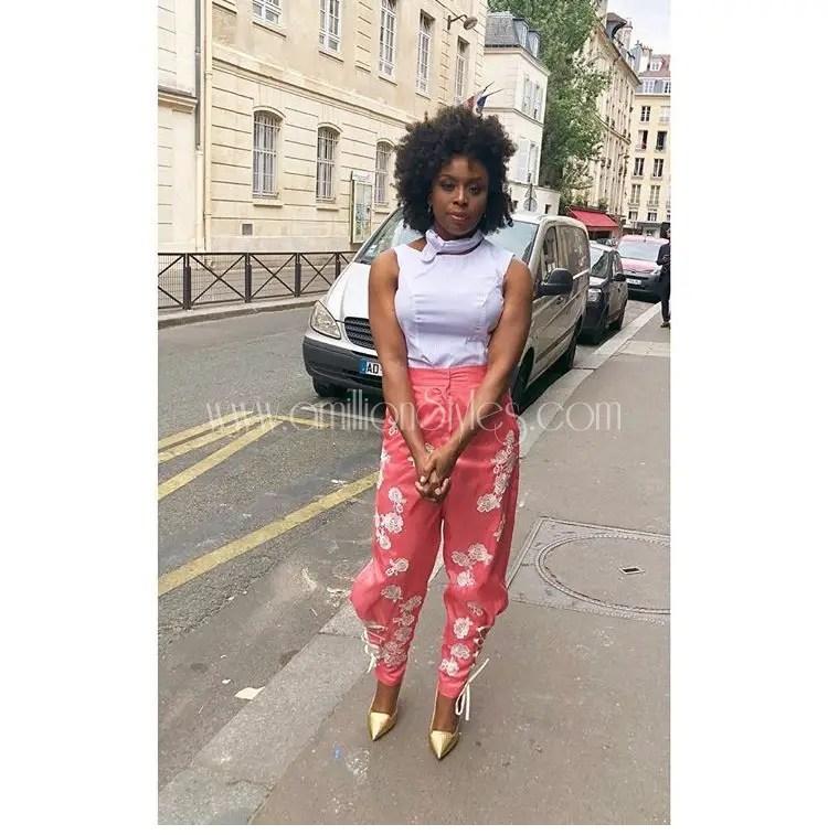 Chimamanda Adichie Steps Out In Ladunni Lambo For Christian Dior's Haute Fashion Show