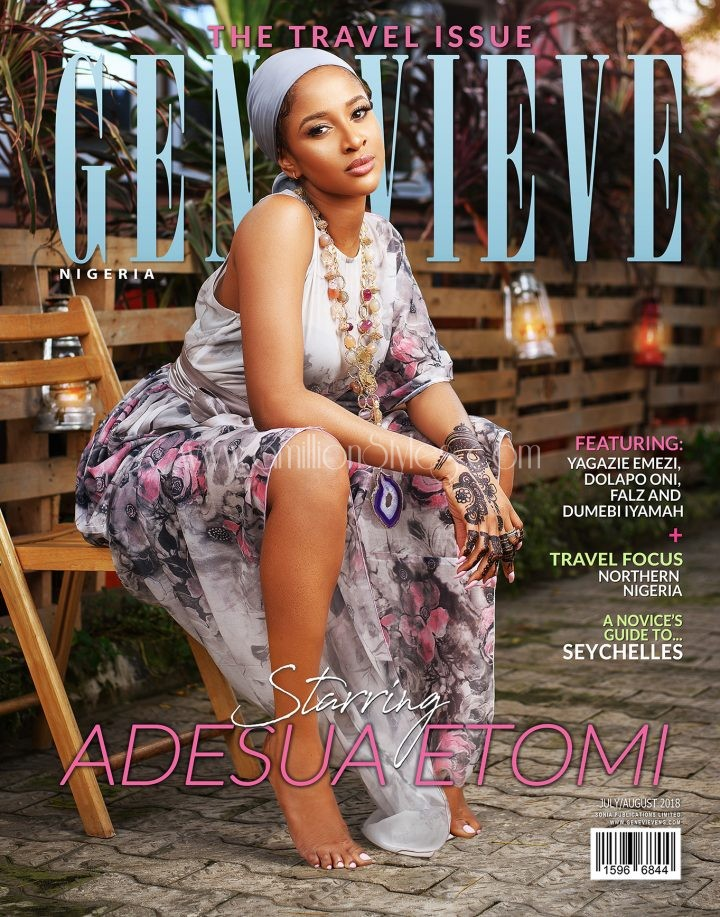 Adesua Etomi Is The Cover Star For Genevieve Magazine Travel Issue