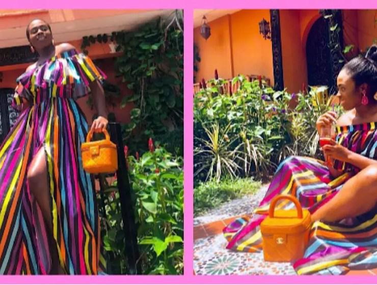 We Are Loving Ozinna Anumudu In This Multi Colour Maxi Dress