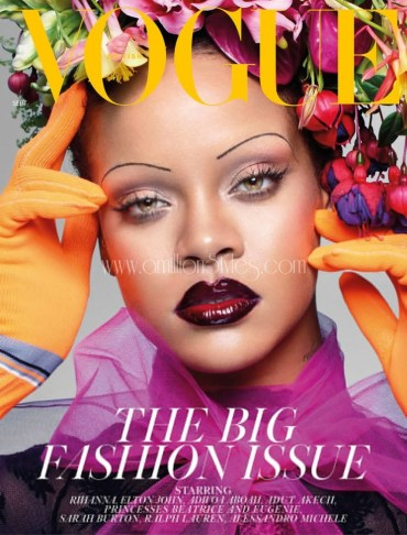 Rihanna Covers The Latest Issue Of British Vogue