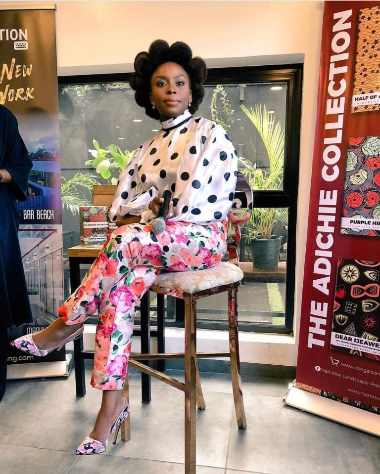 Chimamanda Glows In Her Floral Two Piece By Wild Kulture