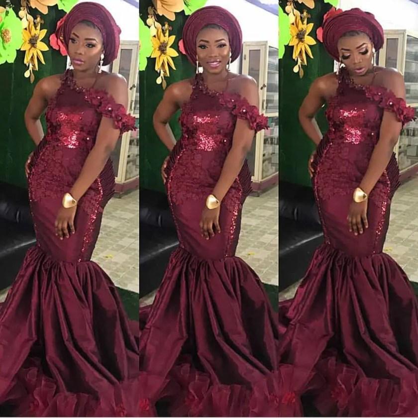 Elegant Lace Asoebi Styles For Trendy Ladies