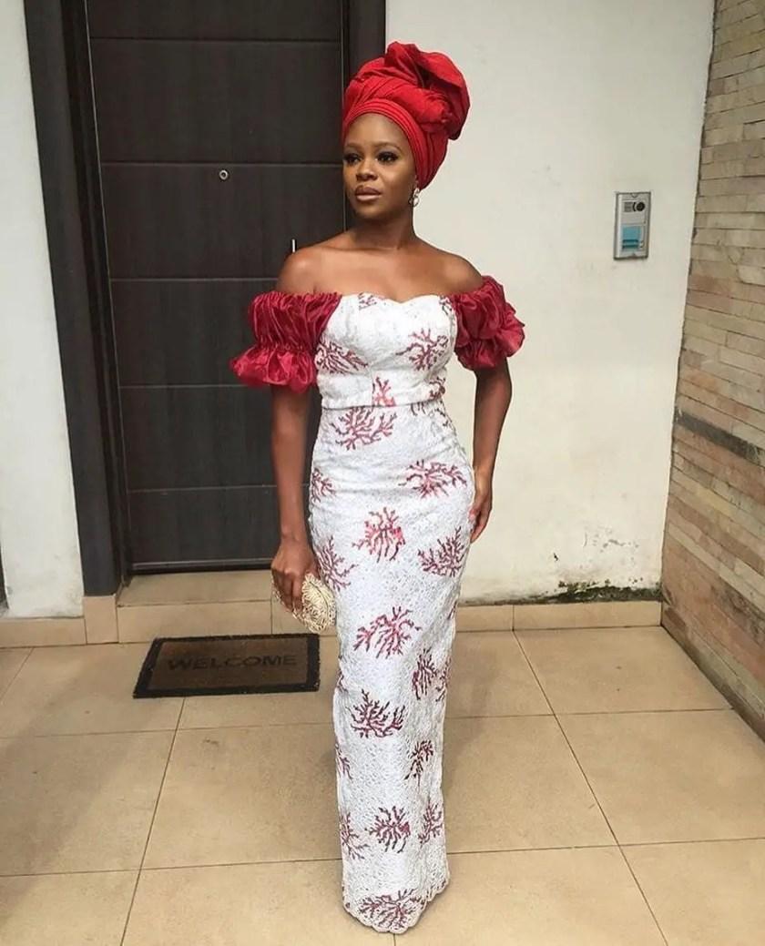 Celebrity Styles At Lala Akindoju And Gbubemi Fregene's Trad Wedding