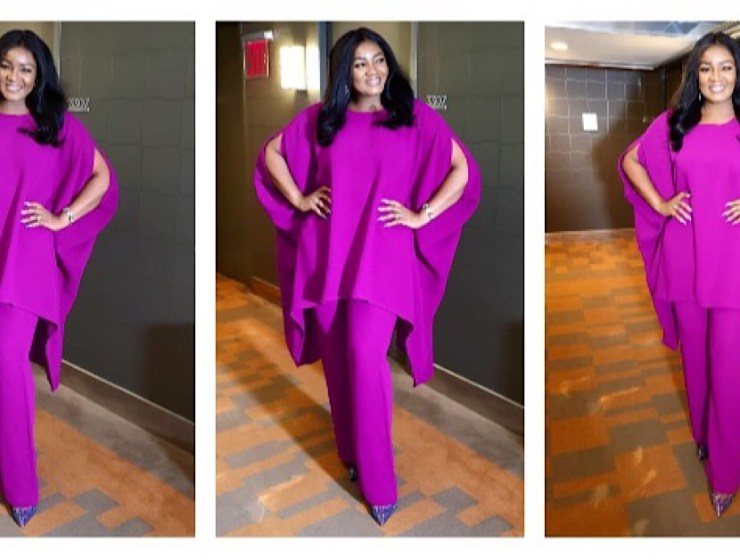 Omotola Glows In A Two Piece By Wani Fuga