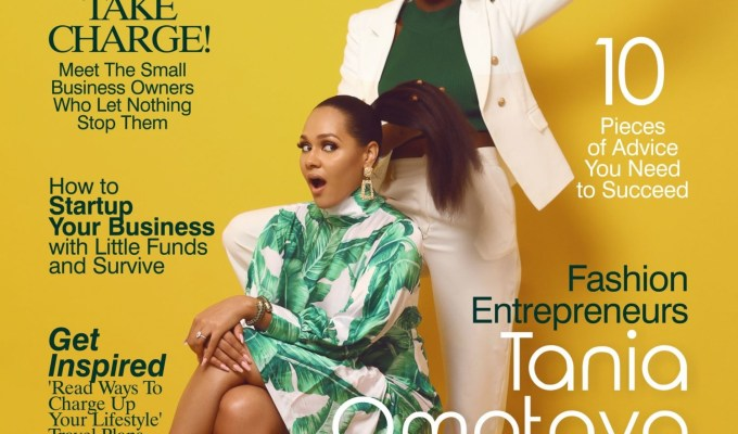 Tania Omotayo and Olarslim Glow On The Cover of The Celebrity Shoot Magazine's Latest Issue!
