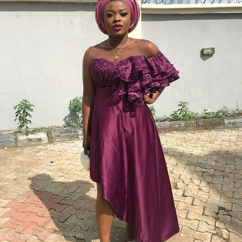 12 Spicy Lace Asoebi Styles Off The 'Gram