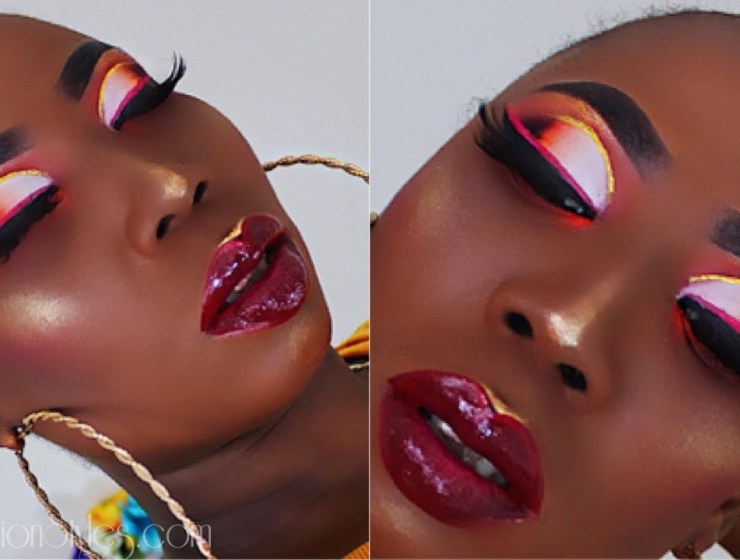 Put Some Drama On Your Eyelids With This Popping Makeup Look