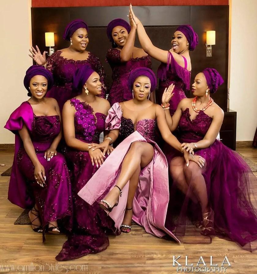 Raise A Toast To The Brides' Asoebi Bellas Squad!