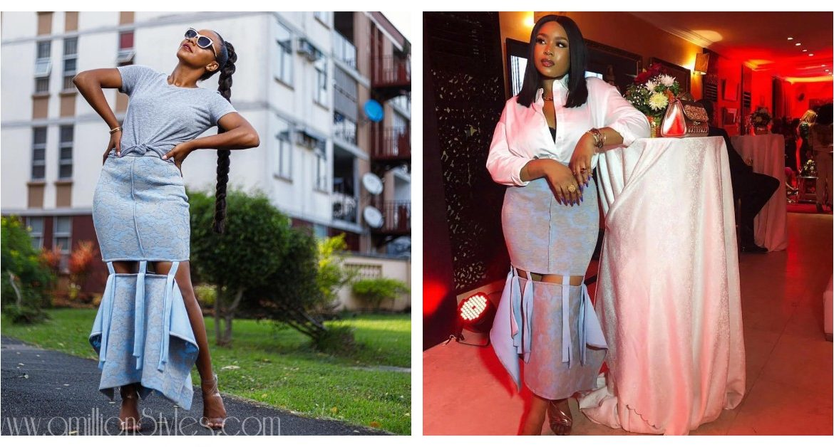 Who Wore It Better? Mimi Onalaja and Vanessa Azar In This Gorgeous Shefa Luxe Skirt