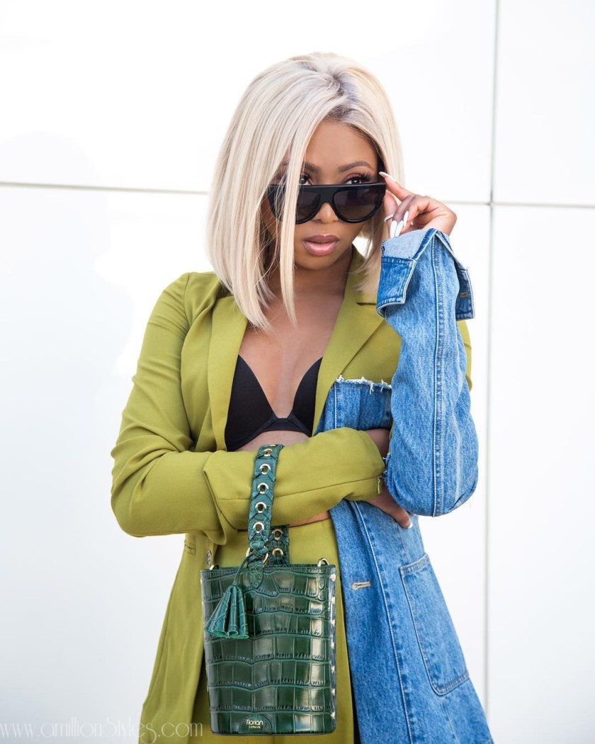 Look Of The Day: Stephanie Coker Gives Us Cool Girl Vibes In This Two Piece Set