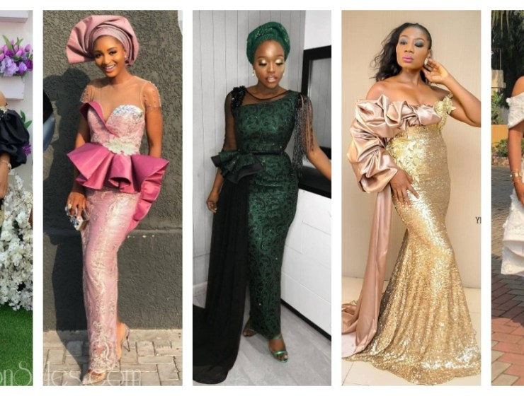 Latest Lace Asoebi Styles Volume 8