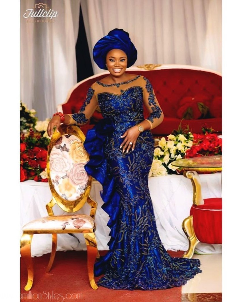 Latest Lace Asoebi Styles Volume 10