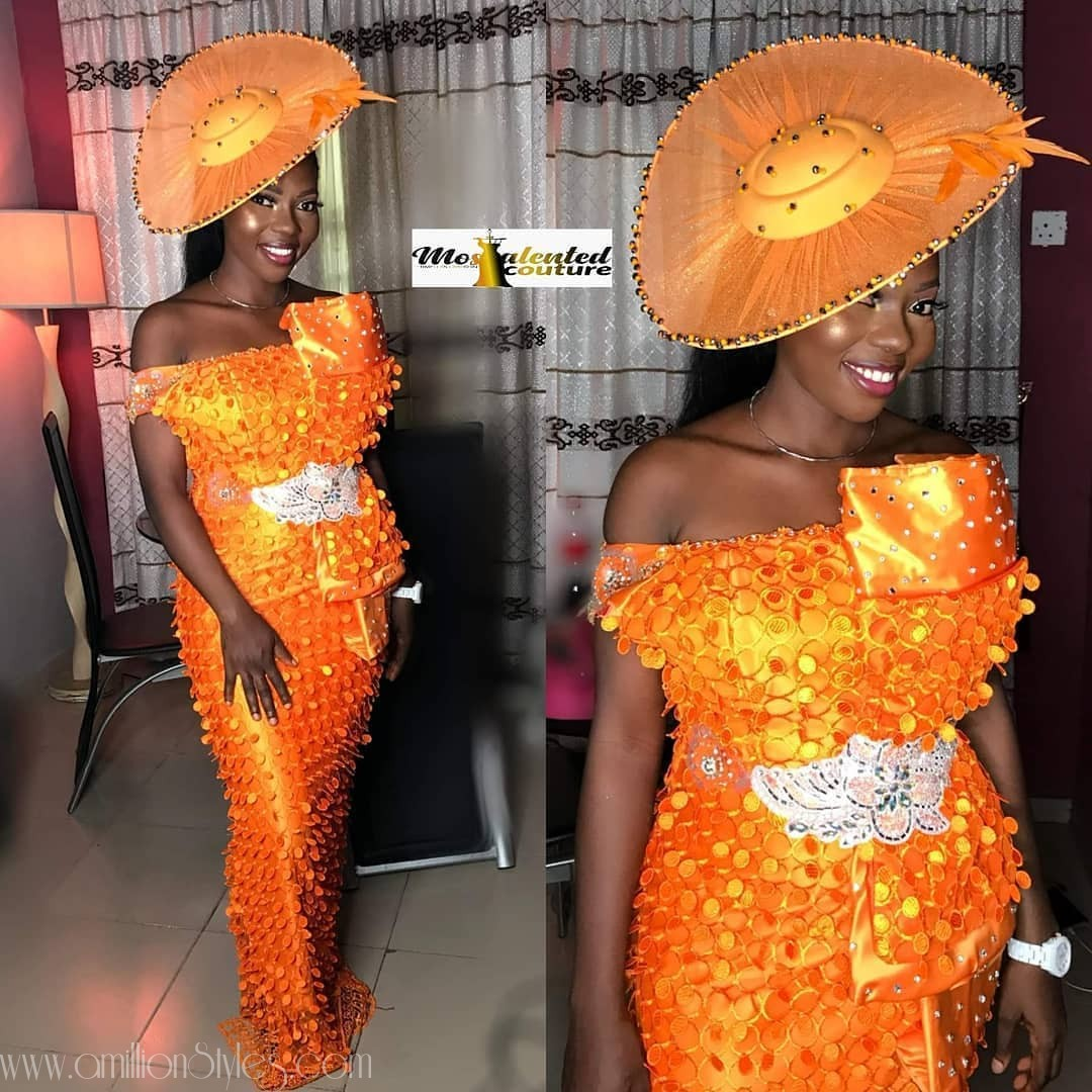 Latest Lace Asoebi Styles Volume 21