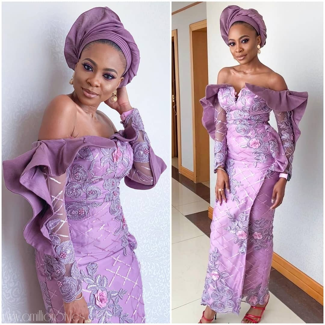 Latest Lace Asoebi Styles Volume 28