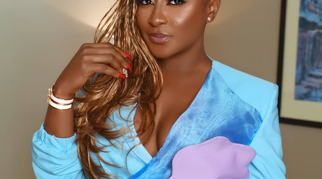 Ini Edo Stuns In A Powder Blue Suit