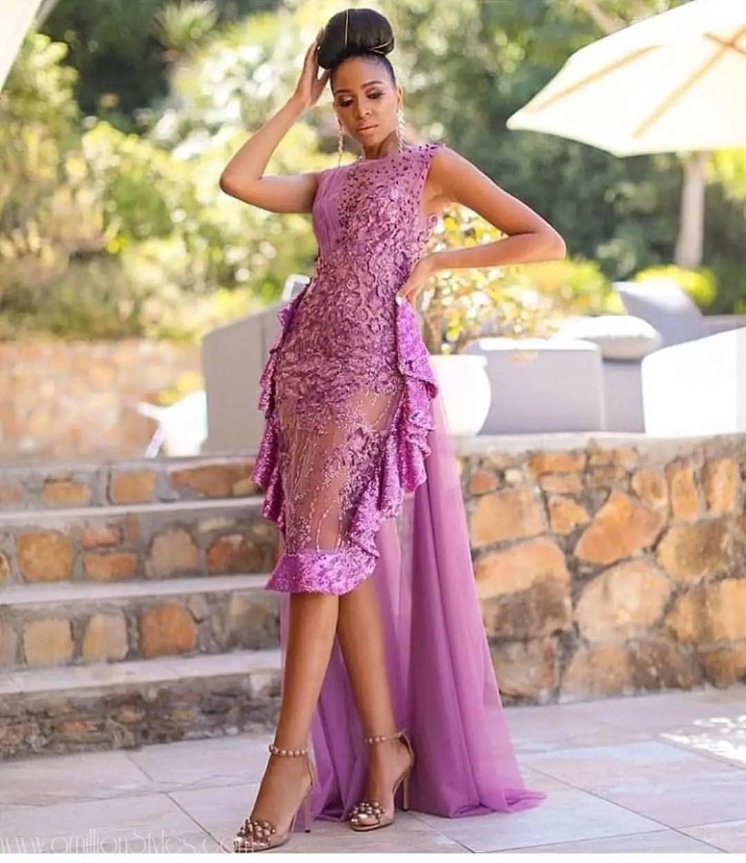 Latest Lace Asoebi Styles Volume 34