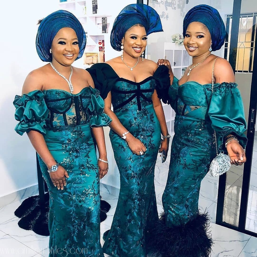 Exclusive Lace Asoebi Styles Volume 53