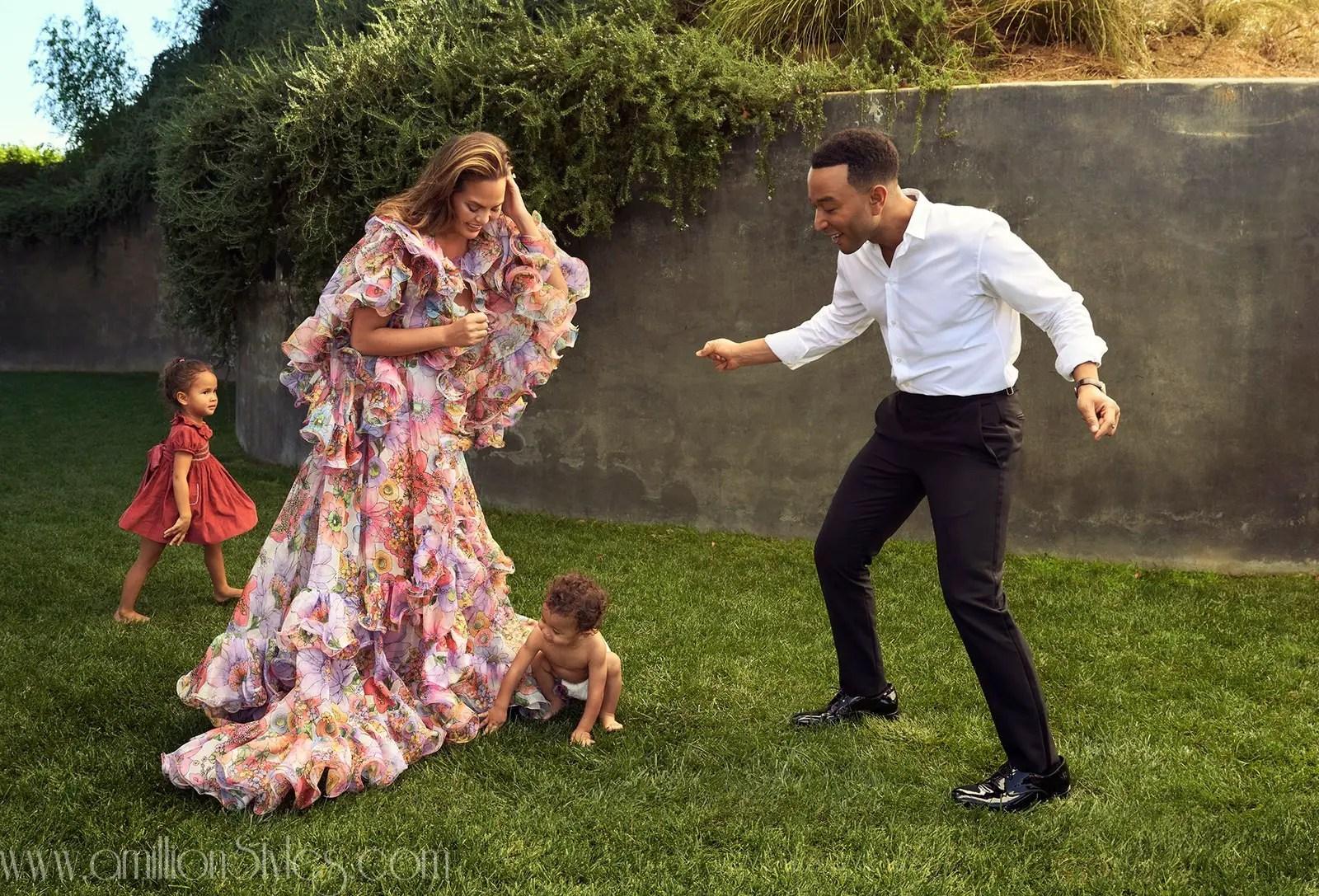 John Legend And Chrissy Teigen Cover December Issue Of Vanity Fair
