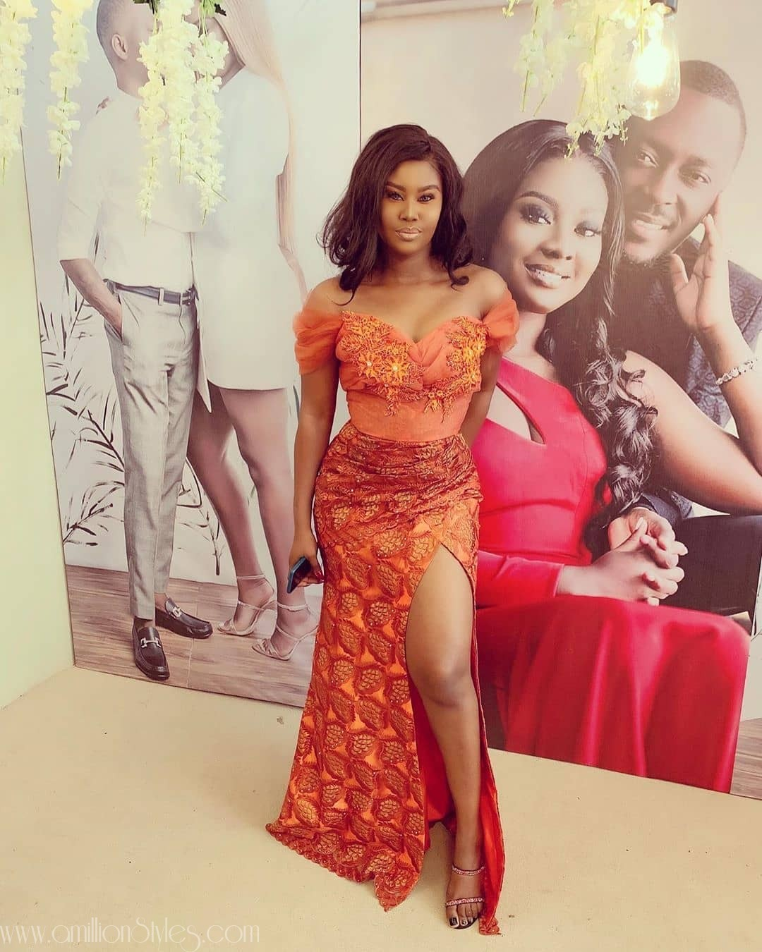 6 Spectacular Orange Lace Asoebi Styles For Women