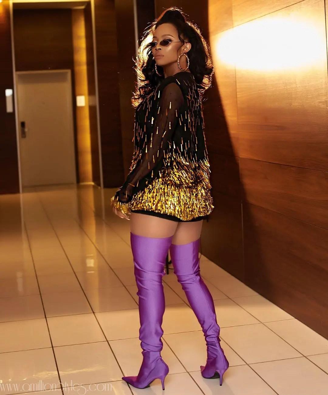 Who Wore This Lanre Da Silva Dress Better? Toke Makinwa Or Ini Dima Okogie
