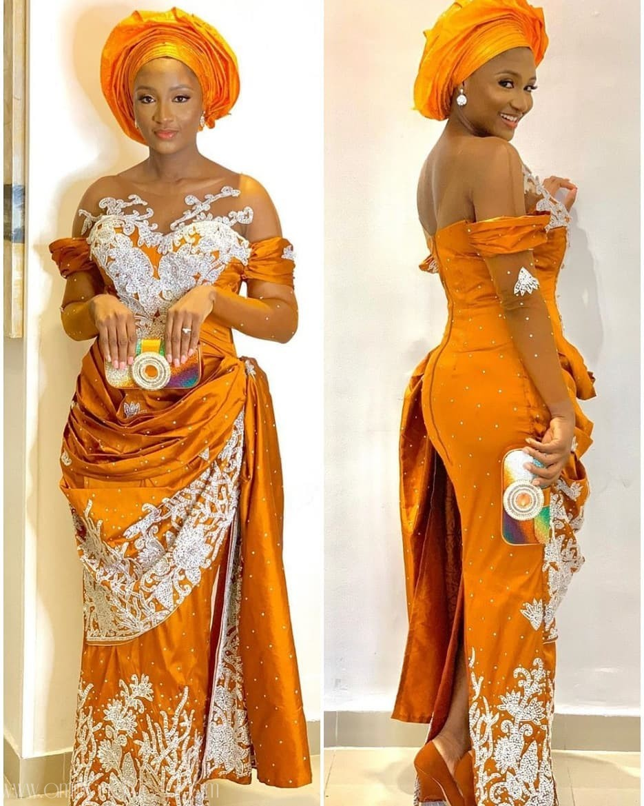 These Lace Asoebi Styles With Matching Trains Are Too Good To Ignore