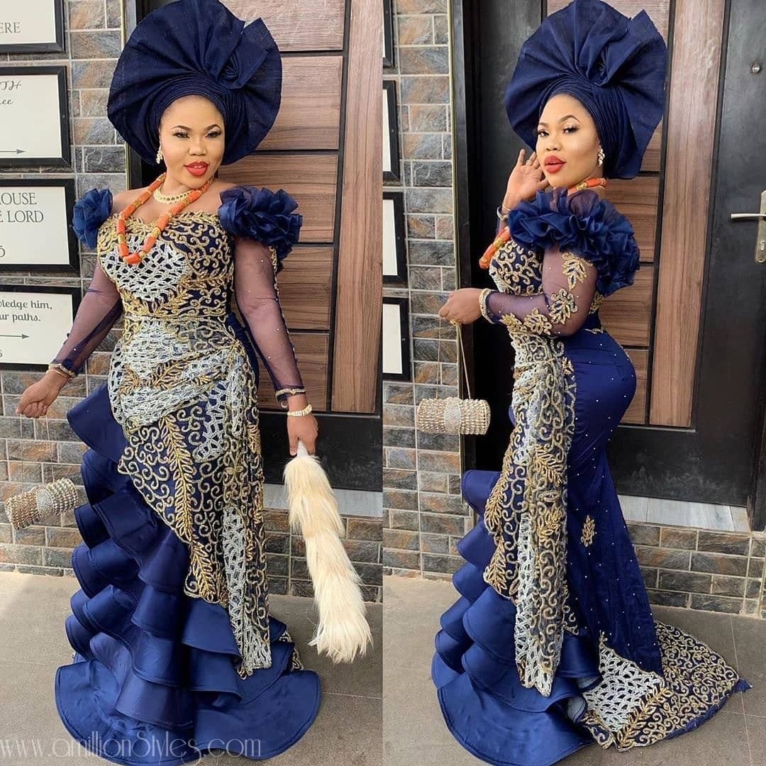 Latest Nigerian Lace Styles and Designs-Volume 24