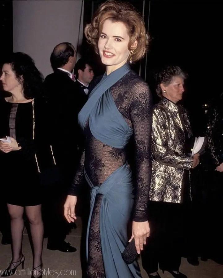 Fashion Flashback: Geena Davis Stuns At 1992 Golden Globes Awards