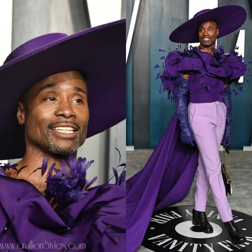 Billy Porter Serves Hawt Sauce In a Purple Christian Siriano Outfit